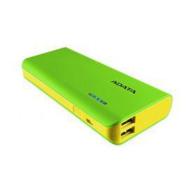 Adata PowerBank PT100 10000mAh 3.1A Zielony/Żółty