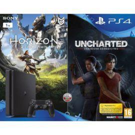 Sony *Playstation 4 1TB Slim +Horizon ZD+Uncharted ZD
