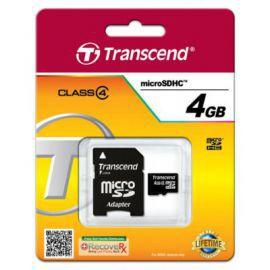 Transcend microSD 4GB Class4 + adapter