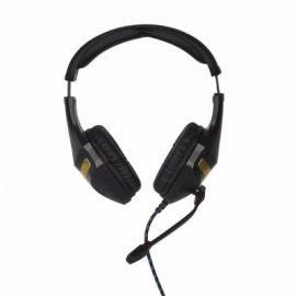 4world Słuchawki  kabel 2,2m mikrofon czarno-złote