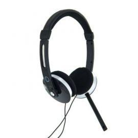 4world Słuchawki stereo AudioPC z mikorfonem, czarne 08254