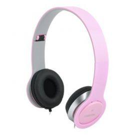 LogiLink Stylowe słuchawki stereo z mikrofonem, różowe