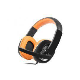 NATEC Słuchawki z mikrofonem KINGFISHER Orange
