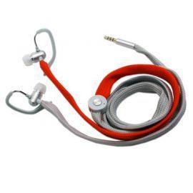 Typhoon UniqueLace zestaw słuchawkowy z mikrofonem kolor szary/czerwony