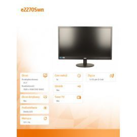 AOC 21.5'' e2270Swn  LED Czarny