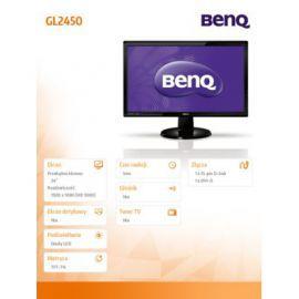 Benq 24'' LED GL2450 5ms/12mln:1/DVI/CZARNY