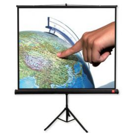 AVTek Ekran na statywie Tripod PRO 180, 1:1, 180x180cm, Matt White, czarne ramki
