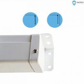 4world Elektryczny Ścienny/Sufitowy Ekran Projekcyjny z Przełącznikiem 178x178 (1:1) Matt White