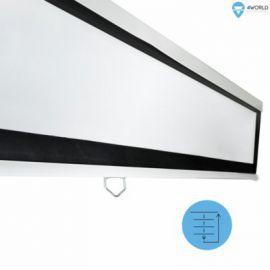 4world Ekran projekcyjny na ścianę 203x152 (100'', 4:3) biały mat